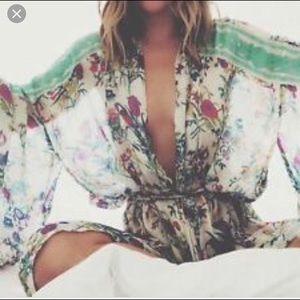Very RARE Spell & the Gypsy Queen Floral Kimono OS